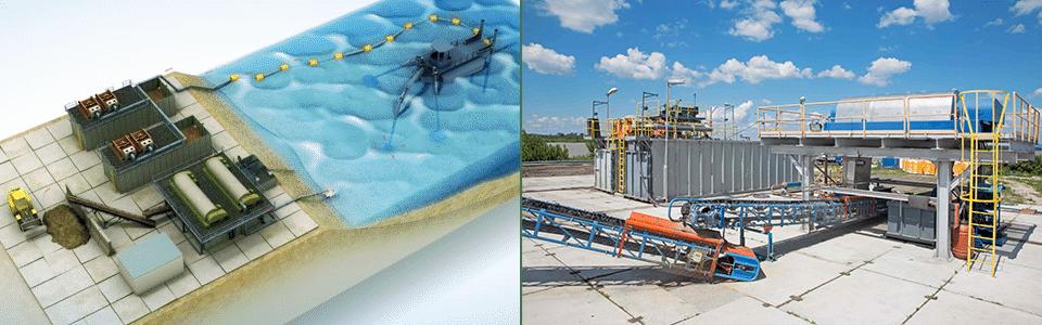 Technologická linka-DESET PG03- spracovanie sedimentu
