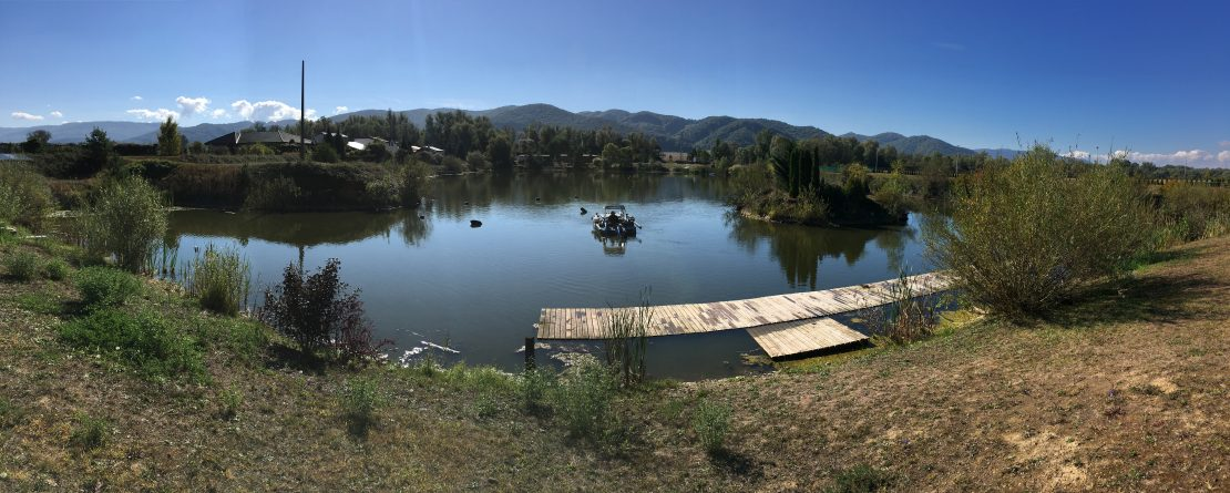 ciste jazero, čistenie jazera, Lackovce